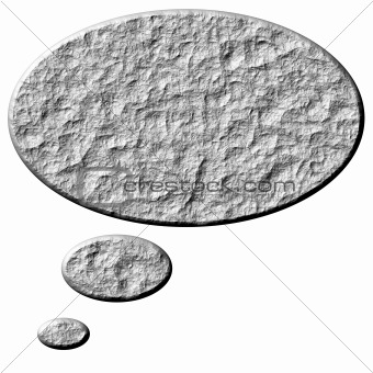 3D Stone Thought Bubble