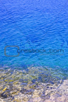 Blue water at shore of Georgian Bay