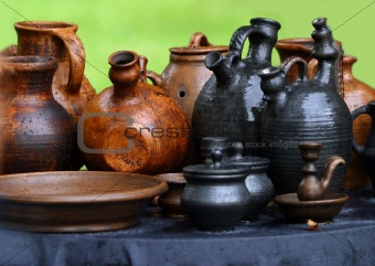 Pots from clay