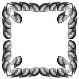 Framework from leaves Syngonium (Square)