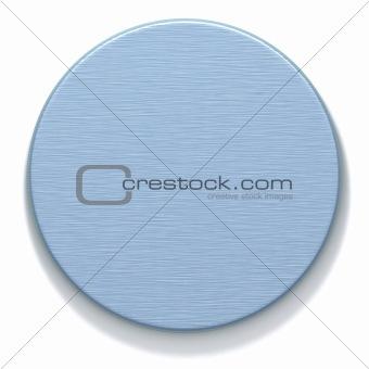azure metal round plate