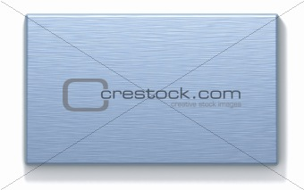 azure metal rectangular plate