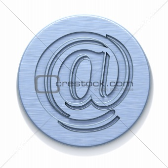 Metal plate with a badge of e-mail
