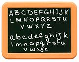 Child's Mini Chalkboard - A to Z