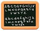 Child's Mini Chalkboard - A to Z