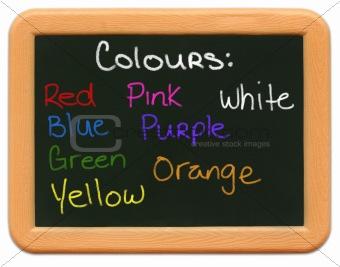 Child's Mini Chalkboard - Colours