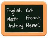 Child's Mini Chalkboard - School subjects