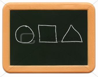 Child's Mini Chalkboard - Shapes