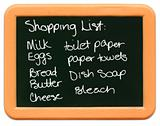 Child's Mini Chalkboard - Shopping List