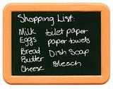 Child's Mini Chalkboard - Shopping List