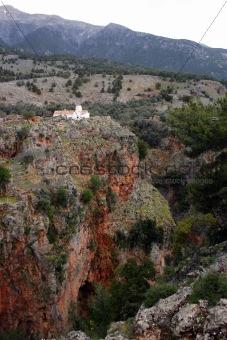 Old church in mountains, gorge Aradena, Crete
