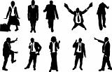 business people unusual silhouettes