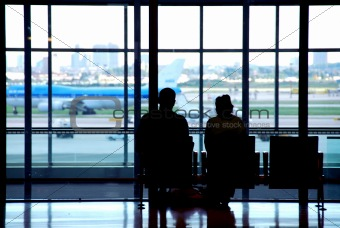Couple airport