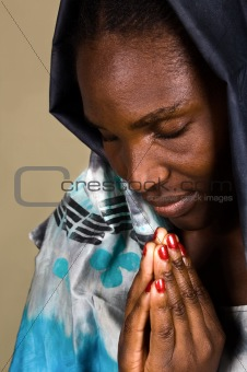 African Christian woman
