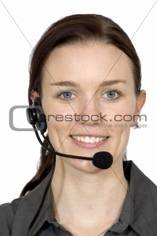beautiful customer service girl