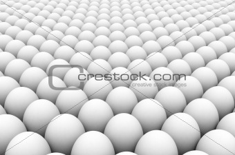 3d image of an egg army formation