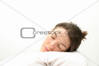 Sleeping business woman