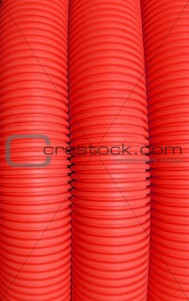 Abstract Red Piping