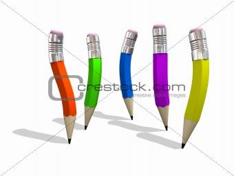 Five Character Pencils