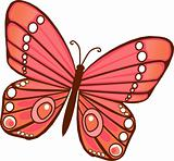 Red orange Butterfly