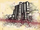 Grunge building