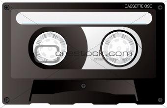 cassette tape black
