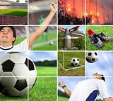 football - soccer composition