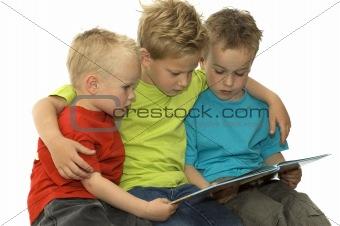 Three Reading Boys