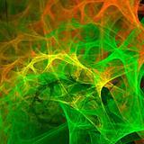 Abstract background. Green - orange palette.