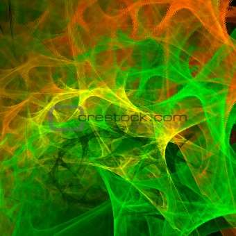 Abstract background. Green - orange palette.