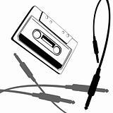 music cassette vector