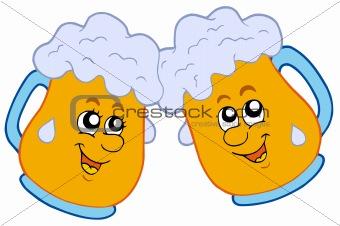 Pair of cartoon beers