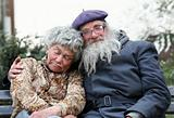 Homeless couple