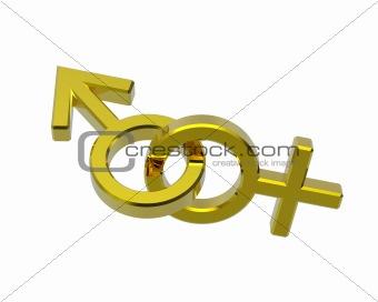 Gold linked sex symbols.