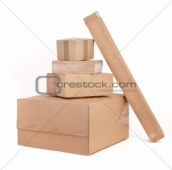 group of cardboard boxes