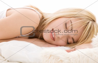 sleeping girl