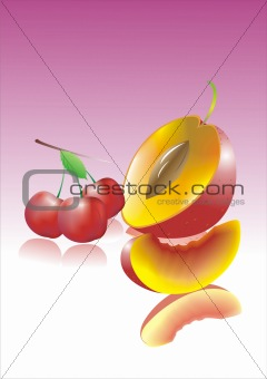 appetizing fresh juicy fruit