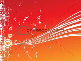 grungy musical background, wallpaper