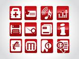 high quality web symbols, red