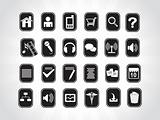 icons on black background