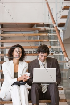 business associates planning new strategy