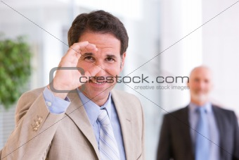 Portrait of business man in focus