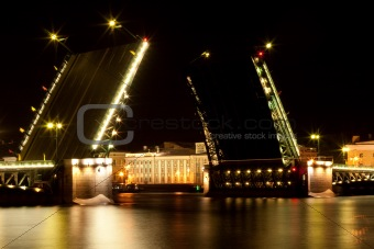 Drawbridge in Saint Petersburg