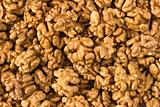 Lot of walnuts close up