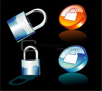 Blue Padlock icons