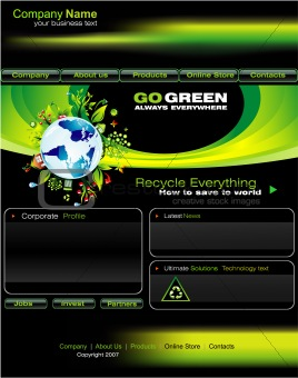 Green Business Website template