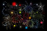 Fireworks, holiday night