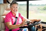 Senior Woman Using GPS