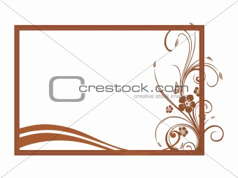 vector of beautiful brown frame design