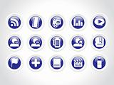Web 2.0 collection of blue Icons